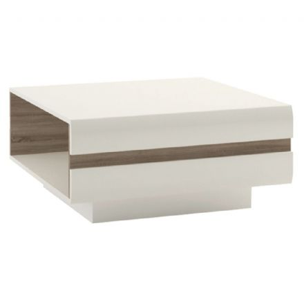 Chelsea Living Designer Coffee Table in white with an Truffle Oak Trim